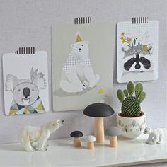 affichette Ours pompons Minimel - deco-graphic.com