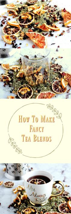 How To Make Fancy Tea Blends Plus My Favorite Citrus Blend With a little bit of time beautiful citrus dried fruits and flowers you can make your own tea blends via ovens. Books And Tea, Comida Diy, Homemade Tea, Fruit Diet, Tea Blends, Vegetable Drinks, Tea Recipes, Fruit Recipes, Drink Recipes