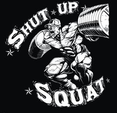 Shirt Shut up Squat USA - Shop for Bodybuilding Figurines Sculptures and Statue Xtreme Figurines Workout Pics, Gym Workouts, Froning Crossfit, Shut Up And Squat, Bodybuilding Quotes, Powerlifting Motivation, Gym Logo, Gym Hairstyles, Black Comics