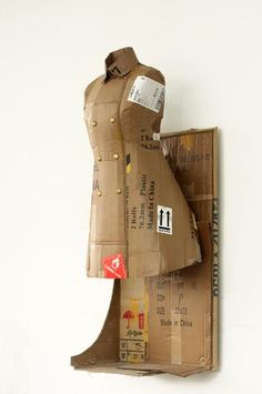 dress form idea!!  cardboard paper Mache chicken wire etc.Hyunjun Kim, ART