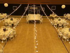 String Lights above Dance Floor