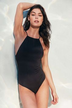 Out From Under High Neck Solid One-Piece Swimsuit, $70 at UO