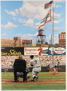"""1994 Mickey Mantle """"Seven Up Forever"""" by Bill Purdom 22"""" x 27"""""""