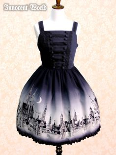 Innocent World Jsk Rothenburg in black. I love cityscapes and this one is just beautiful~ ¥ 26,040