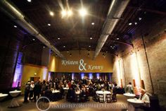 Reception at Avon Theater in Bham, AL Love their names on the wall! Amber Ford Photography