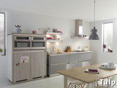 Gezellige keuken in mooie kleurcombinatie
