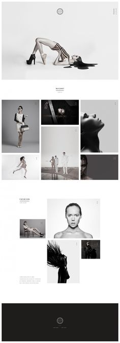 Web design, minimal, layout in Web Design One