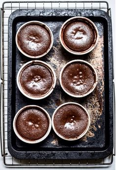 Salted Caramel Molten Chocolate cakes from Cup of Jo Blog http://joannagoddard.blogspot.com/2013/12/salted-caramel-molten-chocolate-cakes.html#more