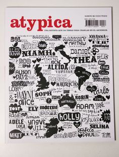 ATYPICA COVER ART by sophie henson, via Behance
