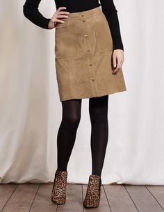 cda735c5703 Seventies Suede Mini Skirt WG687 Above Knee Skirts at Boden. Another great  skirt option!