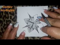 How to draw Stella tangle pattern ? - YouTube