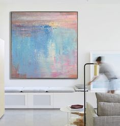 hand-painted large contemporary painting on canvas, original art from CZ ART DESIGN. @CeilneZiangArt