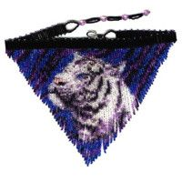 Purple Tiger Fringe Necklace : Beading Patterns and kits by Dragon!, The art of beading. Seed Bead Jewelry, Bead Jewellery, Beaded Jewelry, Beaded Necklaces, Seed Beads, Diy Jewelry, Beaded Earrings Patterns, Jewelry Patterns, Beading Patterns