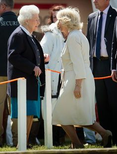 Queen Elizabeth II and Camilla, Duchess of Cornwall attend the Royal Windsor Horse show in the private grounds of Windsor Castle on May 13, 2015 in Windsor, England.