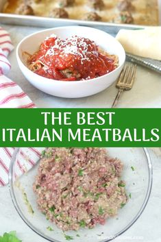 The World's Best Meatballs Recipe! An authentic recipe for Italian style baked meatballs. There are a few tricks and tips in this recipe that will make making meatballs in the oven more delicous than any pan-fried meatball out there. Oxtail Recipes, Slow Cooker Recipes, Beef Recipes, Real Food Recipes, Cooking Recipes, Beef Meals, Yummy Food, Healthy Recipes, Recipes