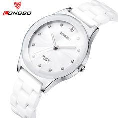 LONGBO Ceramic Luxury Brand Watch Women Relojes Dress Waterproof Casual Quartz-Watch Ladies Women Watches Relogio Feminino 8631