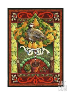 Partridge in a Pear Tree Giclee Print by David Galchutt at Art.com