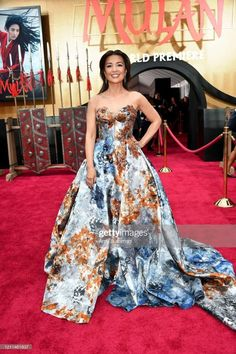 "Ming-Na Wen Photos - Ming-Na Wen attends the premiere of Disney's ""Mulan"" at Dolby Theatre on March 2020 in Hollywood, California. - Premiere Of Disney's ""Mulan"" - Red Carpet Melinda May, Ming Na Wen, Strapless Dress Formal, Formal Dresses, Hollywood Icons, Red Carpet Looks, Celebs, Celebrities, Daily Fashion"