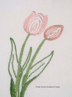 Easter flowers hand embroidery pattern: lily by KFNeedleworkDesign