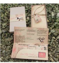Boarding pass destination wedding Invite