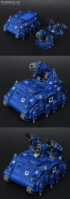 I don't always like magnetizing models. Some dudes make magnetized Terminators arms or even guys in Power Armor. I think it not worth it. But making a vehicle with magnetizing options is totally un...
