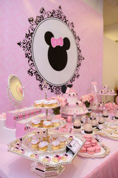 Minnie Mouse Mesa de Postres