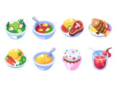 We refreshed recipe icons to conform our unified icon/illustration style.