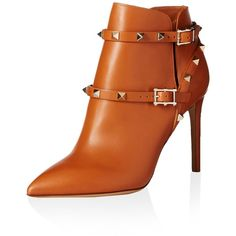 Valentino Women's Rockstud Ankle Boot (57.030 RUB) ❤ liked on Polyvore featuring shoes, boots, ankle booties, valentino, short boots, valentino boots, ankle bootie boots, ankle boots and valentino booties