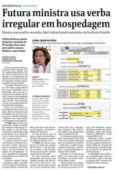 Reportagem de Matheus Leitão mostra que Ideli Salvatti usou verba de gabinete do Senado de forma irregular.