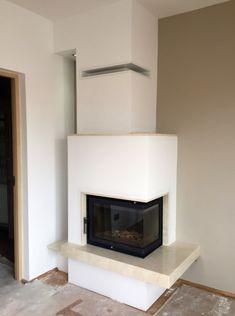 kominek nowoczesny nowoczesna obudowa kominkowa n100 Fireplace Surrounds, Fireplace Design, Pellet Stove, Wood Burner, Living Room With Fireplace, Foyers, Fireplaces, Future House, Tiny House