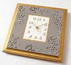 Precious Embossed Decorative Clock   FaveCrafts.com