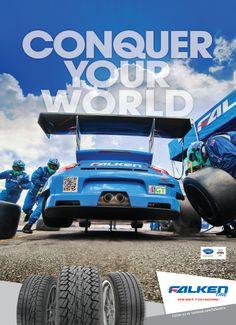 Falken Tire Motor Trend Magazine Ad Conquer Your World