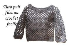 Sweater all sizes crochet (english subtitles) Filet Crochet, Pull Crochet, Crochet Crop Top, Thread Crochet, Crochet Granny, Knit Crochet, Cardigan Au Crochet, Patron Crochet, Boyfriend Crafts