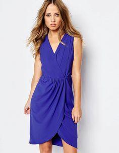 Mega fede Y.A.S Rhina Dress with Wrap Skirt - Clematis blue Y.A.S Shift Kjoler til Damer i luksus kvalitet