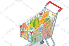 Tree Illustration, Graphic Illustration, Shopping Carts, Creative Icon, Icon Design, Store, Children, Stickers, Young Children