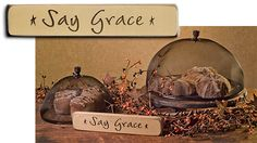 Say Grace Engraved Block
