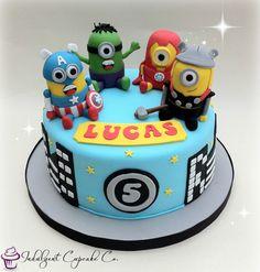 Avengers minion cake 2 cake Pinterest Minion cakes Cake and
