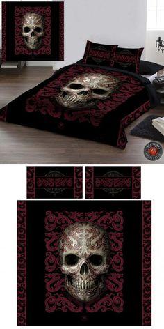 Anne Stokes Oriental Skull Double Duvet Cover Set - £69.99 : From ANGEL CLOTHING