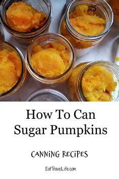 Enjoy fresh tasting pure pumpkin pie when you can pie pumpkin from scratch. You can make delicious pure pumpkin pies with this tasty how to. #canningrecipes #pumpkins #canningpumpkins #sugarpumpkins #pumpkinpie #piepumpkins