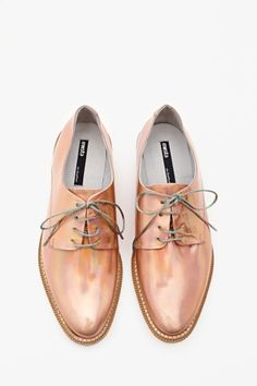 rose gold oxfords!