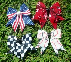Summer Fun Hair Bow 4Pack by AmericanBones on Etsy, $15.00