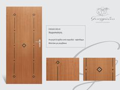 Handmade wooden door_code: Delhi / by Georgiadis furnitures #handmade #wooden #door #marqueterie