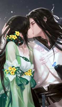 Raja and Sadri Couple Anime Manga, Couple Amour Anime, Anime Love Couple, Cute Anime Couples, Art Anime Fille, Anime Art Girl, Fantasy Couples, Fantasy Girl, Anime Artwork