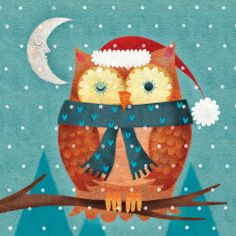 Winking owl Christmas cards  Pinned by www.myowlbarn.com