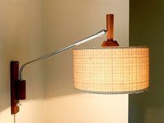 Vintage 1960s Swing Wall Lamp Danish Modern Mid Century Le Klint Juhl 50s 70s