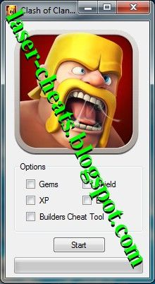Laser Cheats: Clash of Clans Cheats [Unlimited Gems, Shield XP Level]