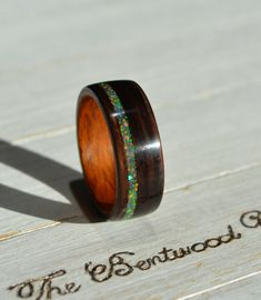 Bentwood ring wood ring wood band wood wedding band | Etsy Wood Inlay Rings, Wood Rings, Titanium Rings, Wedding In The Woods, Opal Jewelry, Opal Rings, Wood Grain, Wedding Bands