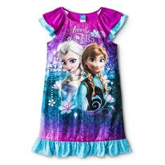 Disney® Frozen Girls' Short-Sleeve Elsa and Anna Sleep Gown