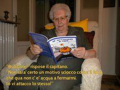 """... e la lettrice più """"grande"""" :)  Ho detto """"dai 6 ai 100 anni"""", no? Be', qua siamo a 94! Portati splendidamente! (Chissà se poi comprerà anche la versione inglese... :) )  #UnSottomarinoInPaese"""