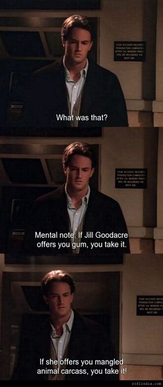 Chandler's Mental Note